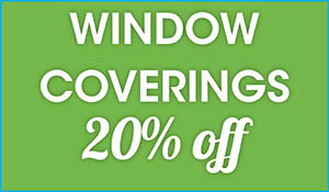 20% OFF window coverings this month only!