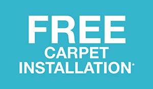 Free carpet installation this month only!  See store for details!