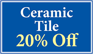 Florida Tile ceramic tile 20% off this month only!