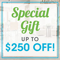 Abbey Van Dam Carpet is offering this special gift to you of up to $250 off with coupon.  Courtesy estimates and professional installation available!
