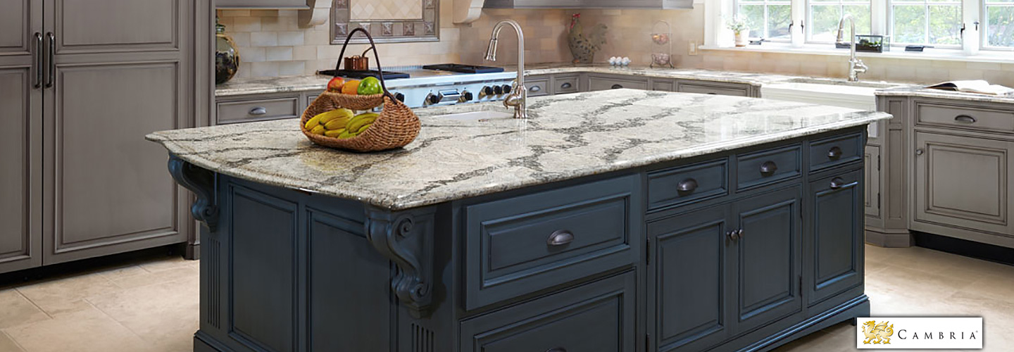 Quartz and Granite Cambria Countertops at Abbey Van Dam Carpet and More in Marysville