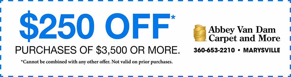 $250 off purchases of $3,500 or more