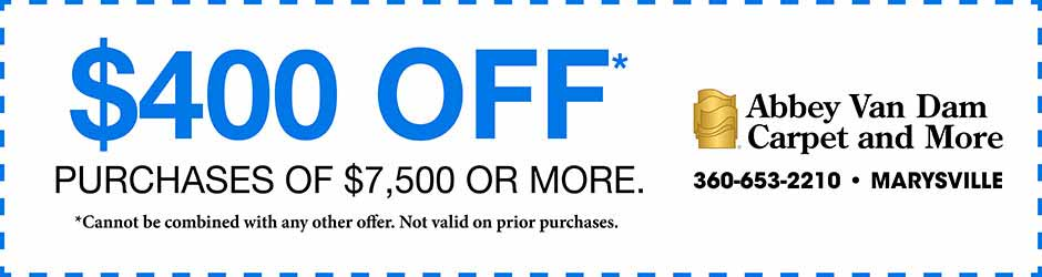 $400 off purchases of $7,500 or more