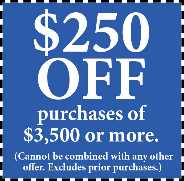 Take $250 Off purchase of $3500 or more at Abbey Van Dam Carpet in Marysville.