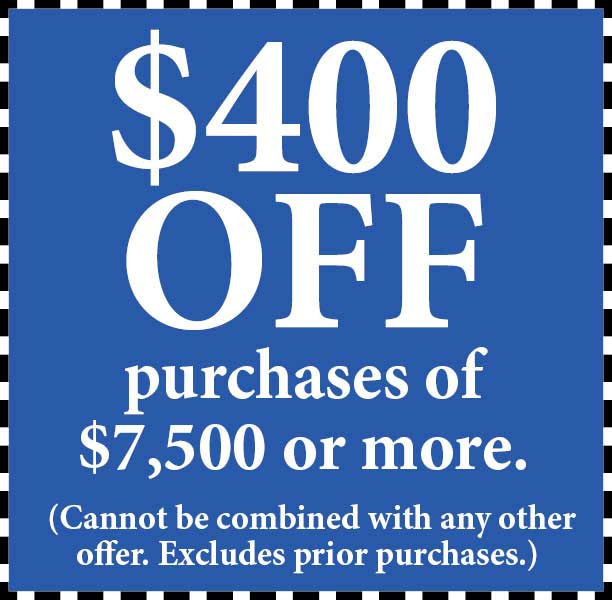 Take $400 Off purchase of $7500 or more at Abbey Van Dam Carpet in Marysville.