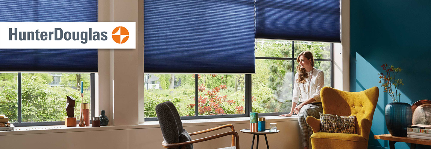 The Blind Konnection offers a large selection of custom Hunter Douglas window treatments